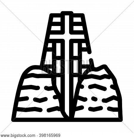 Catholic Chapel Of Holy Cross Line Icon Vector Illustration