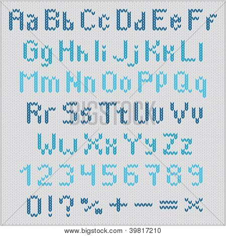 Knitted Vector Alphabet