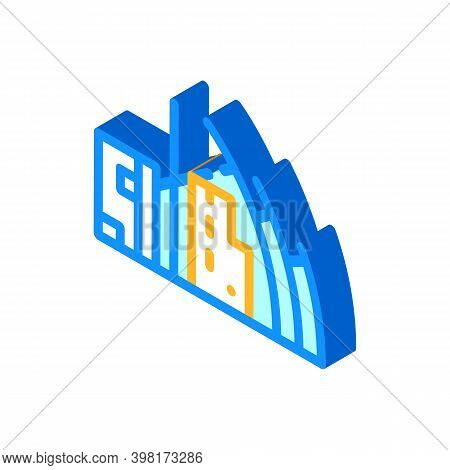 Jubilee Church Isometric Icon Vector Illustration Color