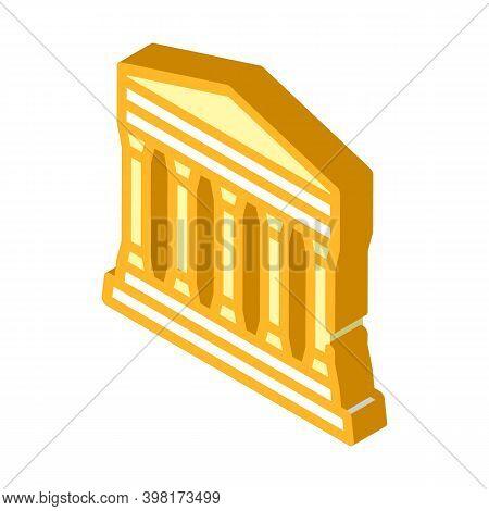 Concordia Temple, Agrigento Sicily Isometric Icon Vector Illustration