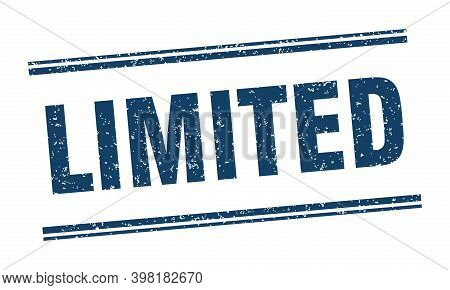 Limited Stamp. Limited Label. Square Grunge Sign