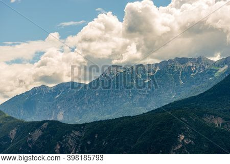 Mountain Range Surrounding The Asiago Plateau Also Called Plateau Of The Seven Municipalities (altop