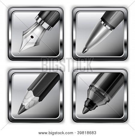 Square Pen Icons