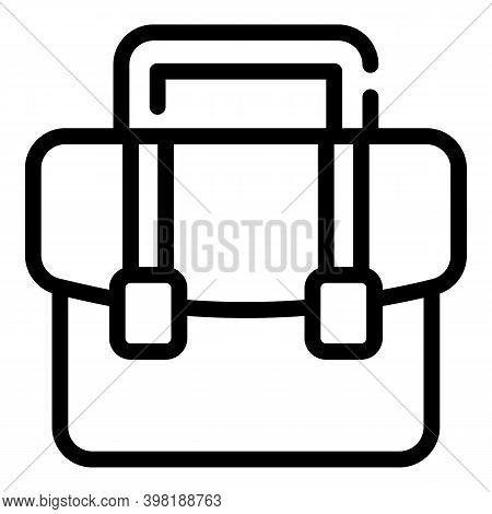 Portfolio Briefcase Icon. Outline Portfolio Briefcase Vector Icon For Web Design Isolated On White B