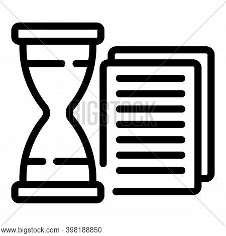 Time Opportunity Icon. Outline Time Opportunity Vector Icon For Web Design Isolated On White Backgro