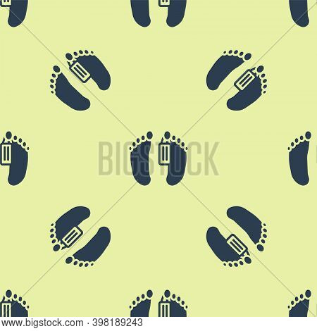 Blue Dead Body With An Identity Tag Attached In The Feet In A Morgue Of A Hospital Icon Isolated Sea