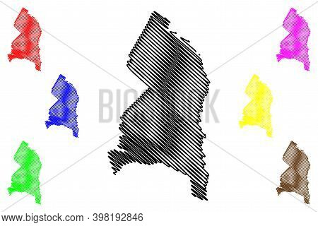 Prince Georges County, Maryland (u.s. County, United States Of America, Usa, U.s., Us) Map Vector Il
