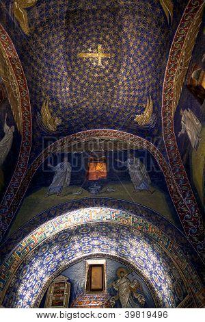 Mosaic Of The Galla Placidia Mausoleum In Ravenn