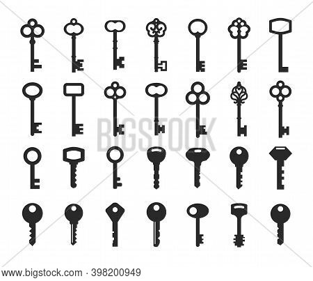 Key Collection Old And New - Vector Silhouette