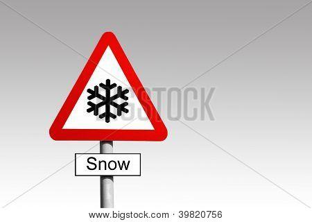 Snow Warning Sign