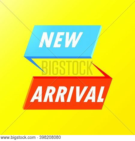 Abstract New Arrival Composition With Flat Design. New Arrival Collection Vector Illustration. Produ