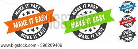 Make It Easy Stamp. Make It Easy Round Ribbon Sticker. Tag