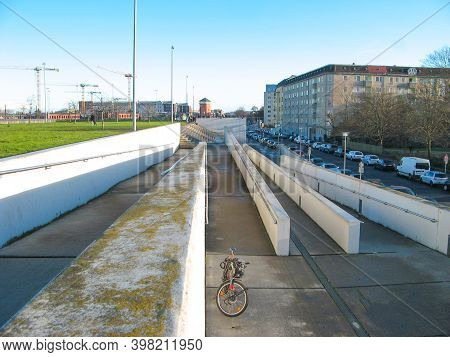 Berlin, Germany - March 01, 2020: The Velodrom Is An Indoor Track Cycling Arena In The Prenzlauer Be