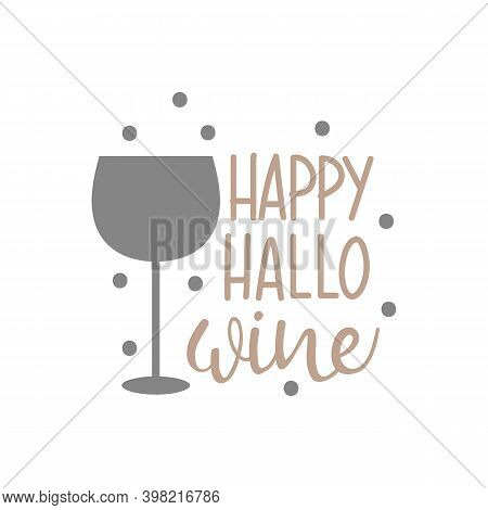 Happy Halloween Hallo Wine Lettering Party Cup