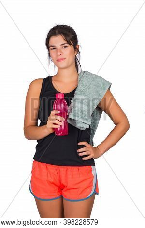 Portrait Of An Athletic Woman With A