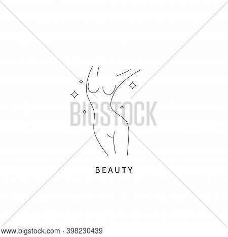 Beautiful Female Body Symbol. Plastic Surgery, Liposuction Logo