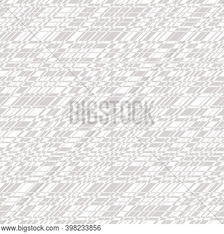 Vector Monochrome Seamless Pattern With Cross Lines, Stripes, Grid, Lattice, Net. Simple Minimal Tex