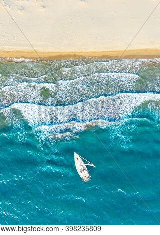 Aereal View Of An Untouched Patara Beach In Antalya, Turkey