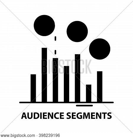 Audience Segments Icon, Black Vector Sign With Editable Strokes, Concept Illustration