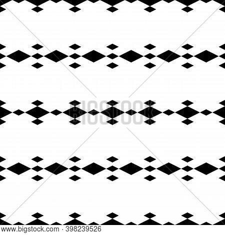 Seamless Pattern. Rhombuses Ornament. Diamonds Backdrop. Lozenges Wallpaper. Ethnic Motif. Geometric