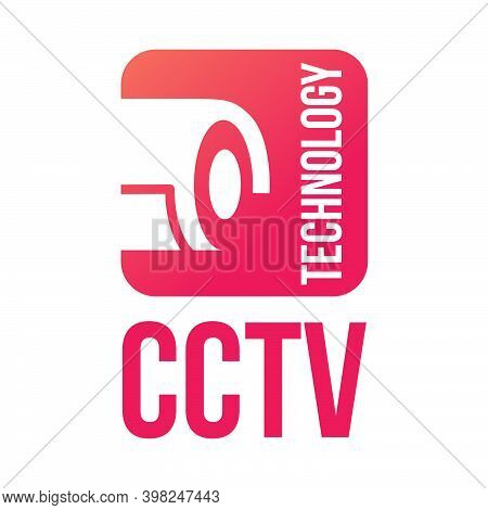 Surveillance System Logo, Security. Outdoor Surveillance Technology. Vector Illustration