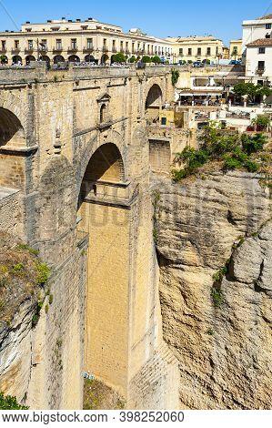 Ronda, Spain - May 22, 2017: The Puente Nuevo Bridge In Ronda