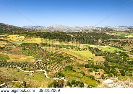 View Of The Country Side Of Spanish Town Of Ronda In Andalusia
