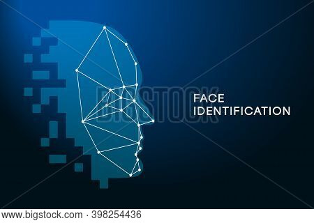 Face Recognition. Face Identification Technology. Biometric Authentication Concept. Facial Recogniti