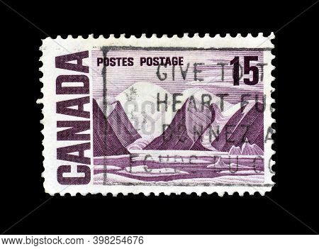 Canada - Circa 1969 : Cancelled Postage Stamp Printed By Canada, That Shows Bylot Island By Lawren S