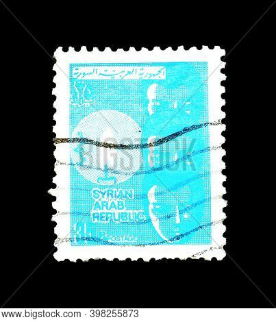 Syria - Circa 1974 : Cancelled Postage Stamp Printed By Syria, That Shows Children And Candle, Circa