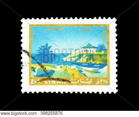 Lebanon - Circa 1966 : Cancelled Postage Stamp Printed By Lebanon, That Shows Tabarja, Circa 1966.