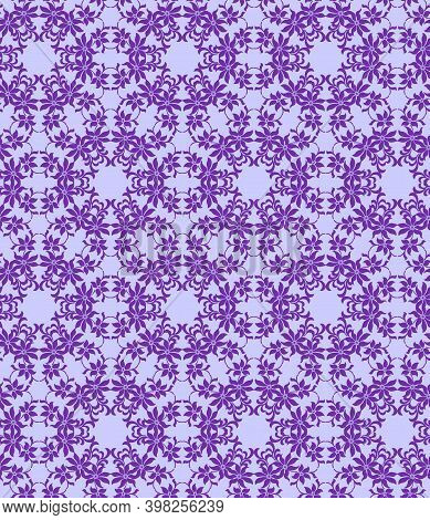 Sophisticated Purple Floral Pattern On A Lilac Background