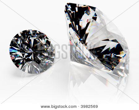 Pair Of Diamonds (No Catchlight)
