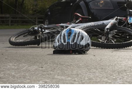 Bicycle Accident In Road Traffic