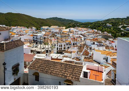Panoramic View Of The Old Picturesque Town Of Ojen In Andalusia, Spain