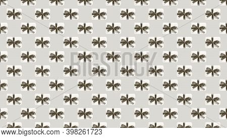 Background Of Many White Gift Boxes On Beige