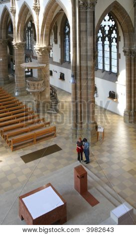 The Part Of The Cathedral Interior. Munich Germany. 2008, August