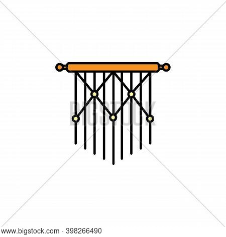 Macrame Line Icon. Signs And Symbols Can Be Used For Web, Logo, Mobile App, Ui, Ux