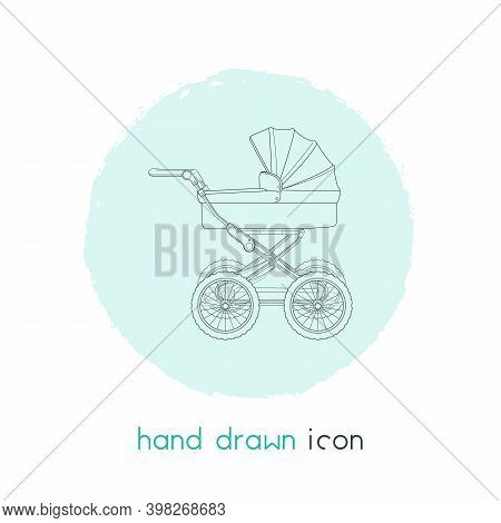 Baby Carriage Icon Line Element. Vector Illustration Of Baby Carriage Icon Line Isolated On Clean Ba