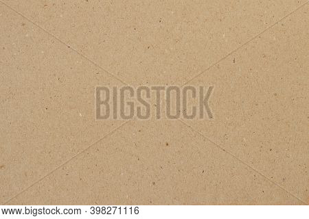 Cardboard, Brown Paper Texture Background Close-up, Surface With Inclusions Of Cellulose