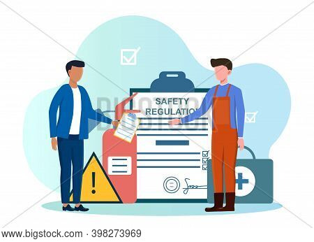 Occupational Safety And Health Administration. Abstract Concept Of Government Public Service Worker