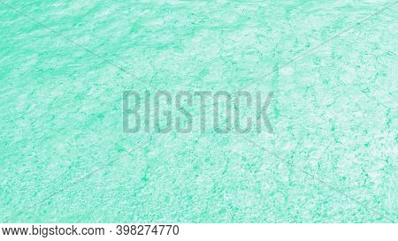 Green Turquoise Background, Water Glare Pattern. Patchy Abstract Background, Panorama