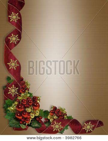 Christmas Border Ribbons And Ornaments