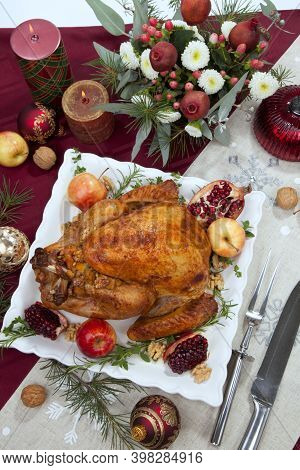 Christmas Pomegranate Glazed Roasted Turkey