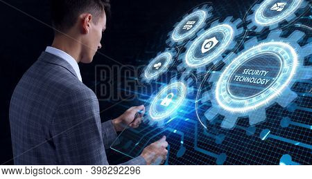 Cyber Security Data Protection Business Technology Privacy Concept. Security Technology