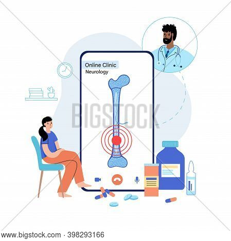 Bone Marrow Anatomical Icon And Structure. Online Clinic App On Phone. Doctors Appointment, Consulta