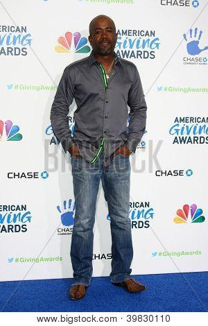 LOS ANGELES - DEC 7:  Darius Rucker arrives to the 2012 American Giving Awards at Pasadena Civic Center on December 7, 2012 in Pasadena, CA