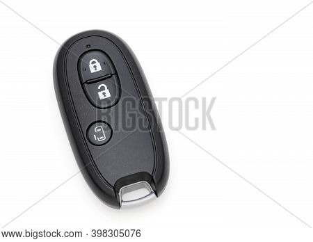 Car Vehicle Modern Black Key Remote Control Have Front Button, Slide-door Button.