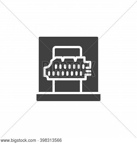Ancient Parchment Vector Icon. Filled Flat Sign For Mobile Concept And Web Design. Museum Exhibit, A