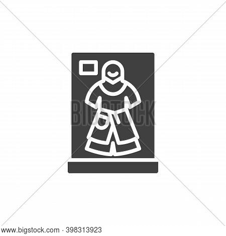 Ancient Armor Clothes Vector Icon. Filled Flat Sign For Mobile Concept And Web Design. Museum Armor